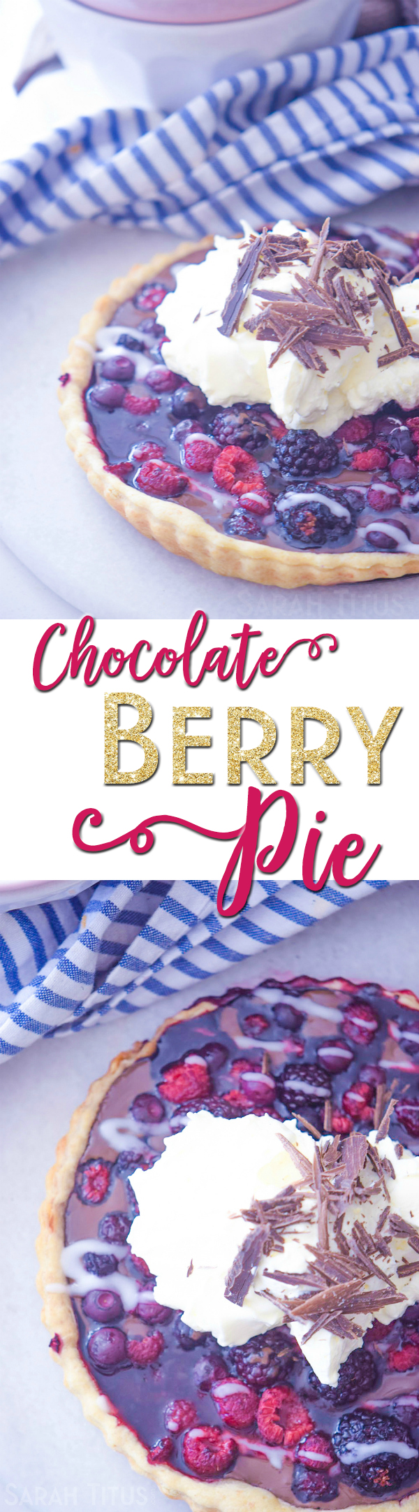 Everyone loves chocolate, am I right? This Chocolate Berry Pie is a non-traditional spin on chocolate pie paired with 3 types of berries. You'll adore it!