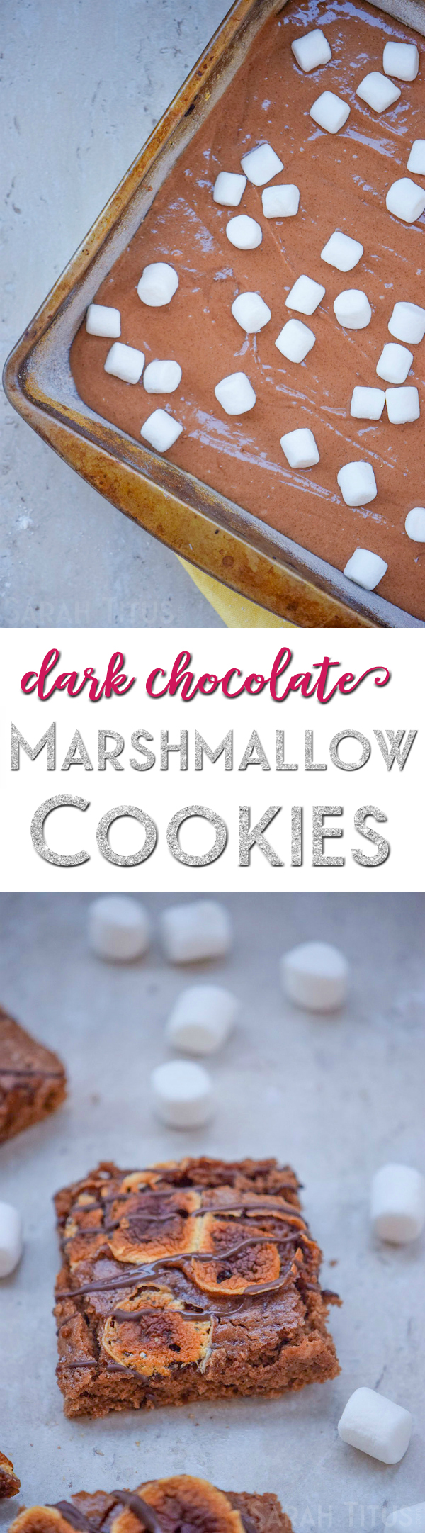 Do you love Rocky Road ice cream? Who doesn't, right?! That was the inspiration for these decadently delicious Dark Chocolate Marshmallow Cookies. You'll love 'em!