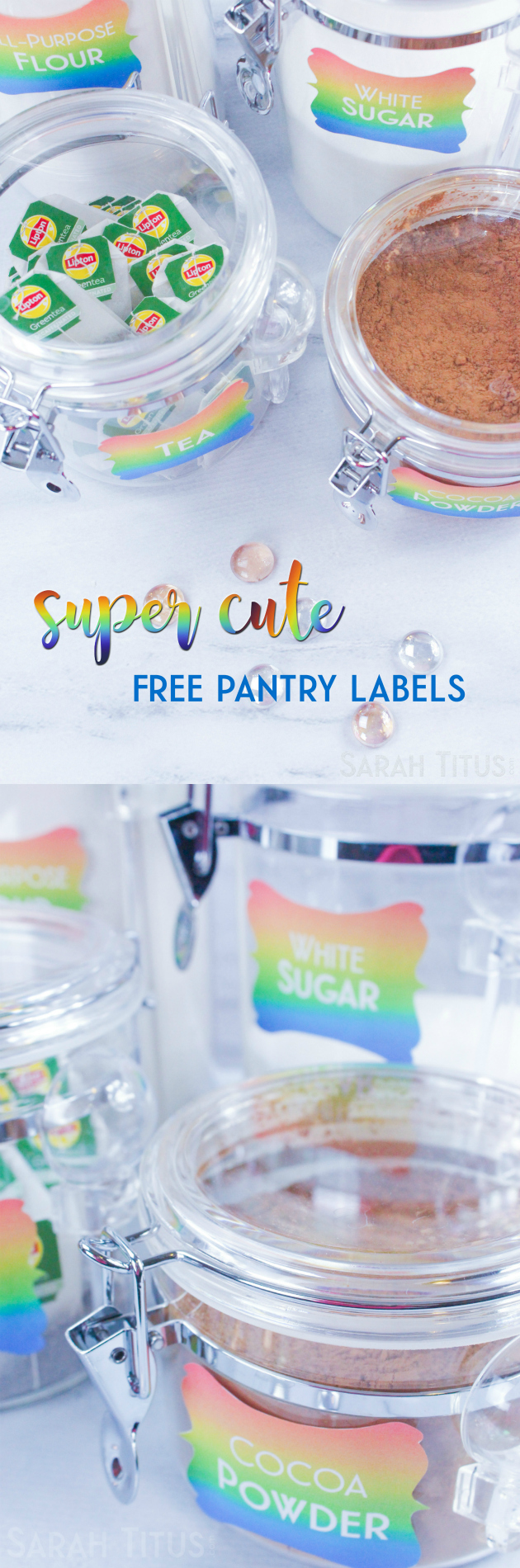 Is it just me or are all the free pantry labels dull and boring? Give your canisters some LIFE and pizzazz with these super CUTE, colorful free printable pantry labels!