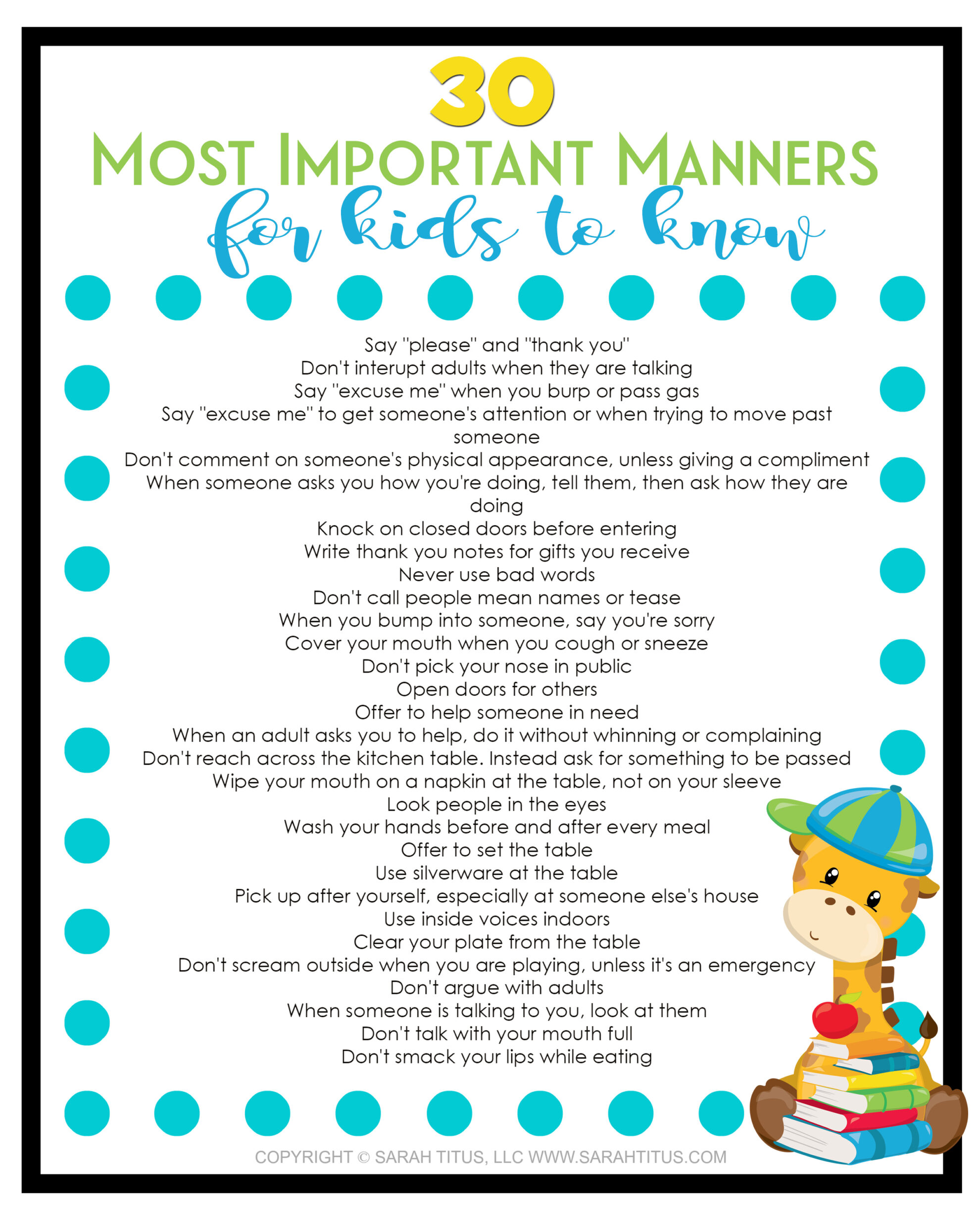 At The Table Manners Worksheet For Preschool