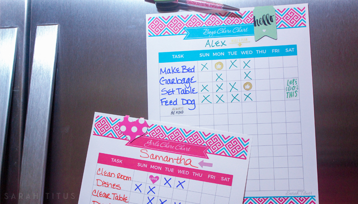 Finding a chore chart is one thing, but getting your kids to actually DO the chores is a completely different ballgame. Creating a chore chart that's right for you includes a free printable chore chart!