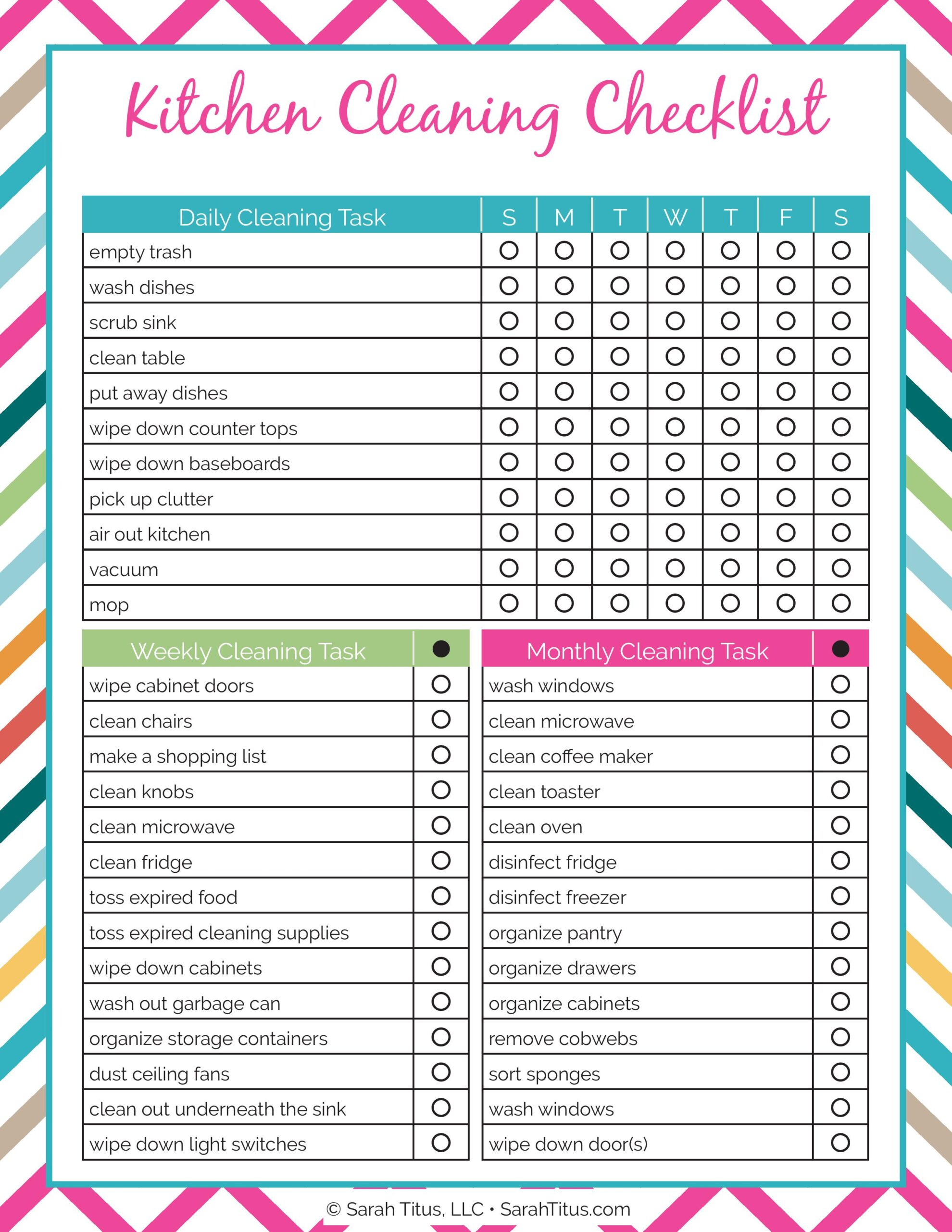 If you're an organization freak like me who loves having everything tidy, this kitchen cleaning checklist will be so helpful! #kitchencleaningchecklist