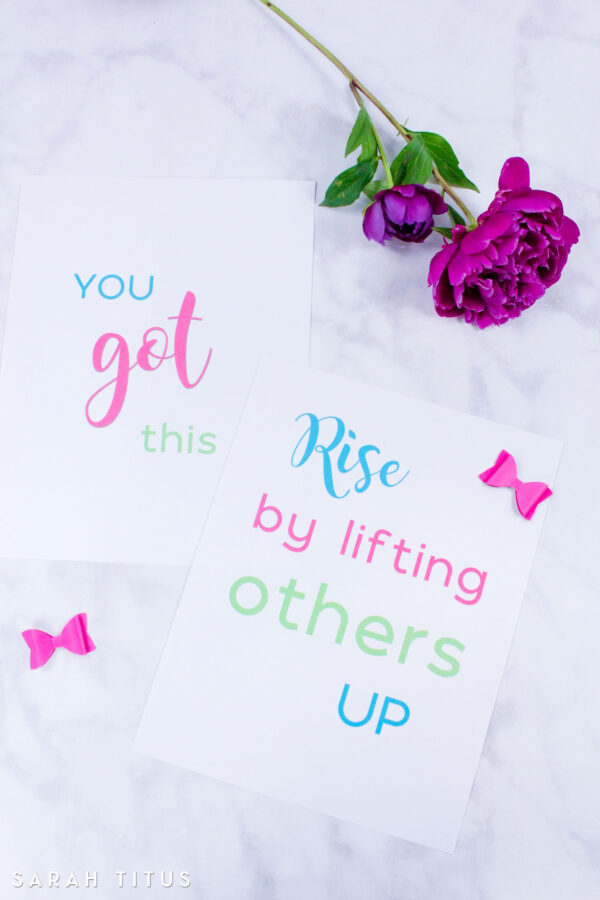 One of the best ways to be encouraged is by lifting other people up! Get this free printable and be reminded that we rise when we help and serve people.