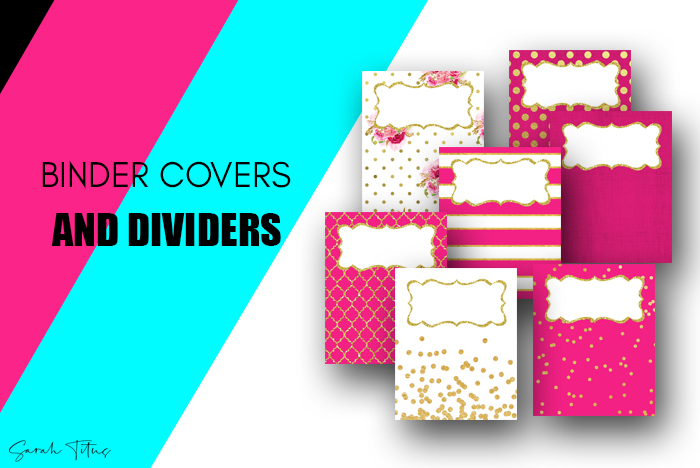 Use these covers and dividers free printables either as binder covers or as dividers for anything you want to organize! #schoolbinders #homebinders