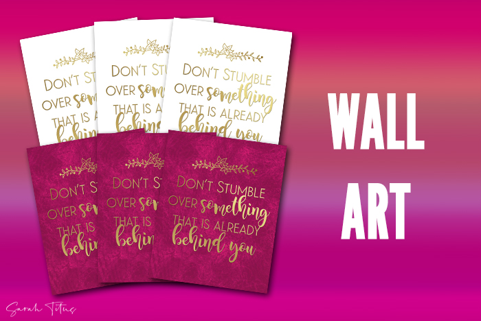 Don't Stumble Wall Art Printable