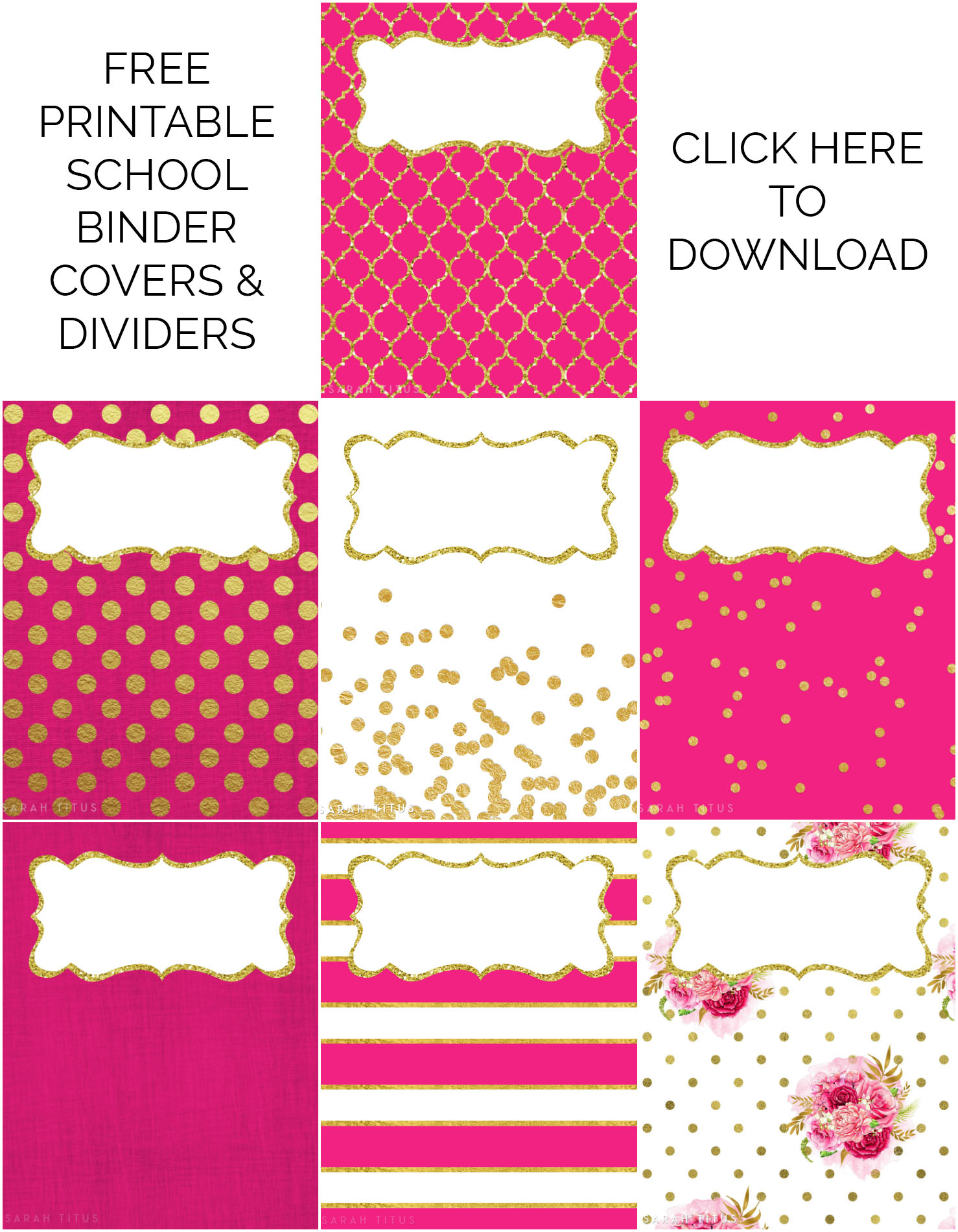 image relating to Binder Cover Printable referred to as Binder Handles / Dividers Totally free Printables - Sarah Titus