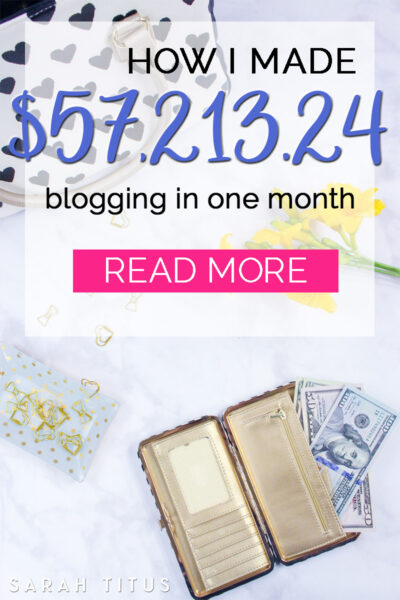 Before I started blogging, I was making $18k/YEAR. I made more than 3x that amount last MONTH ALONE! I'm just as shocked as you are. Blogging has changed my life forever and it can change yours too!