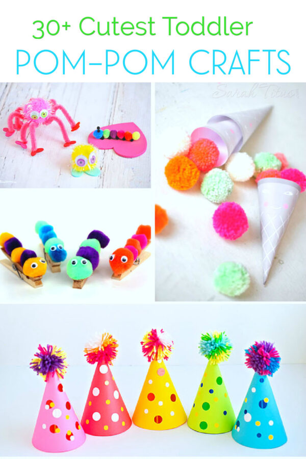 If your kids are literally obsessed with making crafts like mine are, you'll really love this collection of cutest toddler pom-pom crafts to make. All the best crafts, right in one spot!