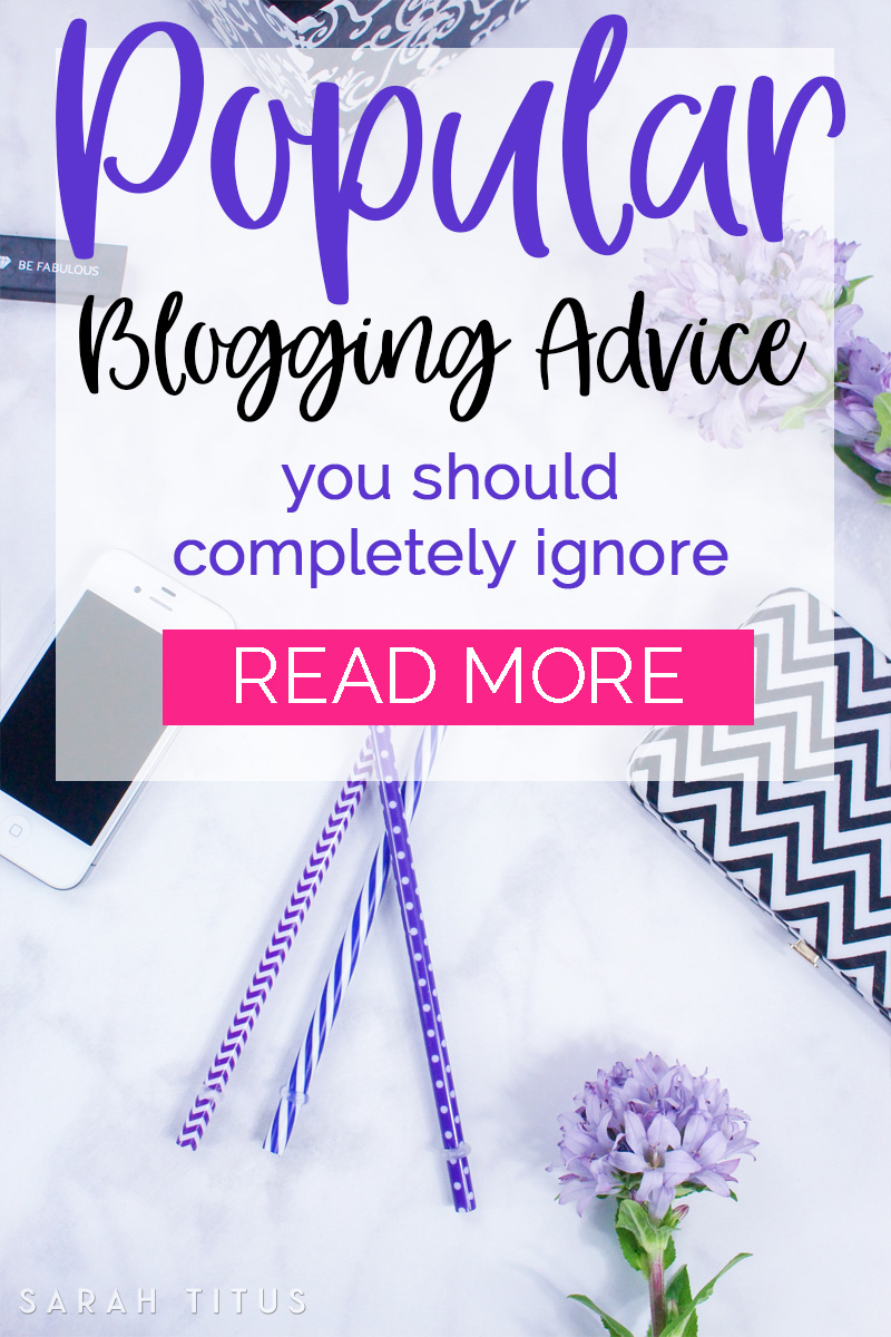 Have you ever been told to niche down? Biggest load of crock EVA! Here's why this popular blogging advice is something you should completely ignore.