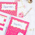 Use these back to school covers / dividers free printables either as binder covers or as dividers for anything you want to organize, whether it be school, your notebooks, or home binders.