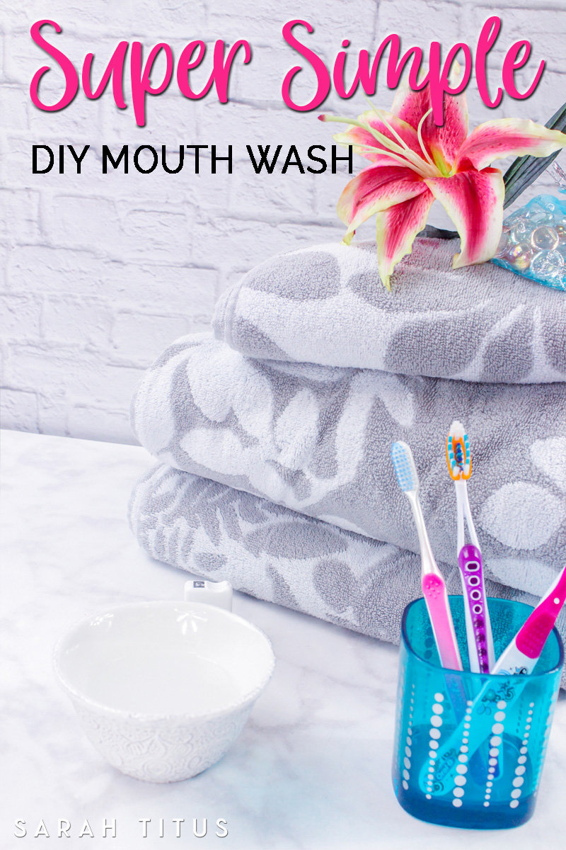 This super simple DIY mouth wash only has 3 ingredients, and most likely, you already have them on hand!