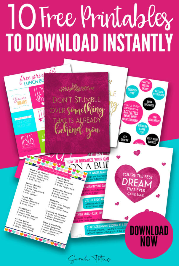 10 Free printables to help you stay organized, decorate your home and inspire you! #freeprintables #homeprintables #organizingprintables #organizing #printables #lunchboxnotes #wallart