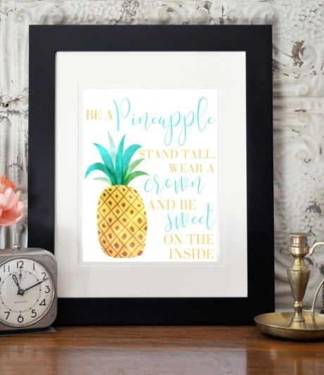 I love how creative this Wall Art is, it's so inspiring! Let's all be pineapples.