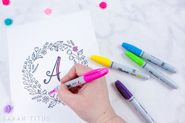These colorable free printable monogram wall art signs are for you to give them YOUR OWN personal touch!
