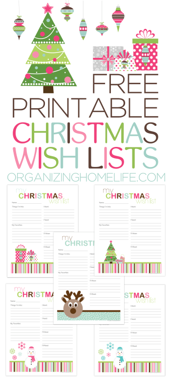 Amazing printable for your kids to write down what they would like for Christmas!