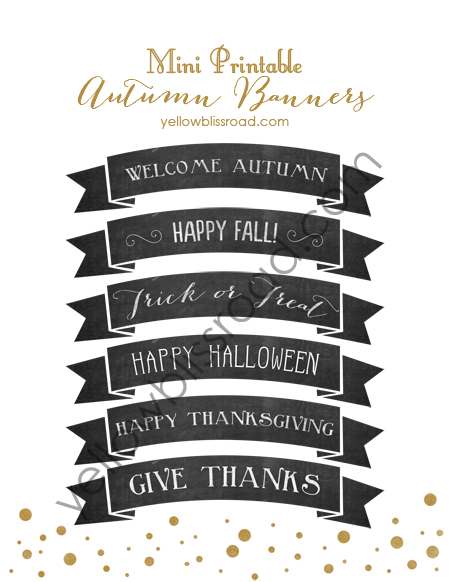 Give an extra touch to your gatherings this fall with these beautiful mini fall banners.