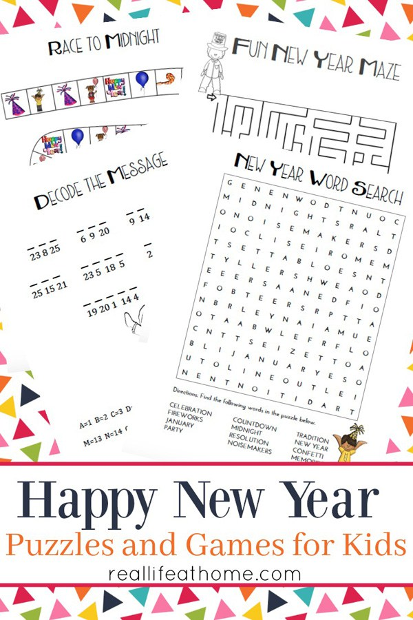 Keep your kids entertained all night long with these packet of New Years Free Printables