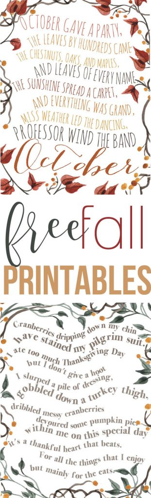 These Thanksgiving poems will look great on your wall during this fall season!
