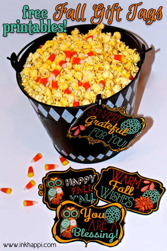 Use these free gift tags on your presents. Isn't this fall printable extremely cute?