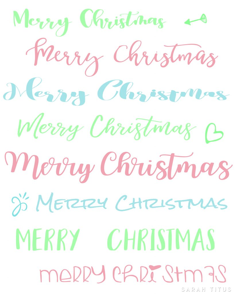 Do you love handlettering as much as I do? This Christmas handlettering printable is for you!