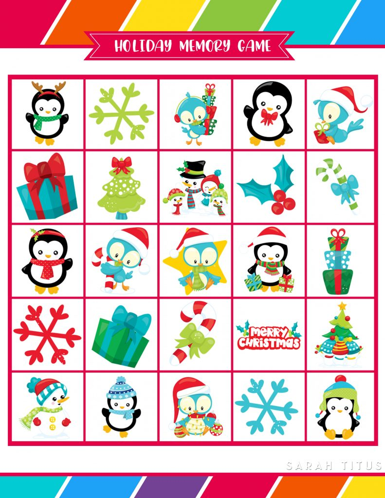 photograph relating to Free Printable Christmas Games for Adults identified as Absolutely free Printable Vacation Online games That Yourself Will Appreciate - Sarah Titus