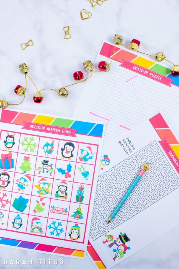 Get into the Christmas Spirit by playing these free printable holiday games that you will love with your kids. A fun way to bring the family together!