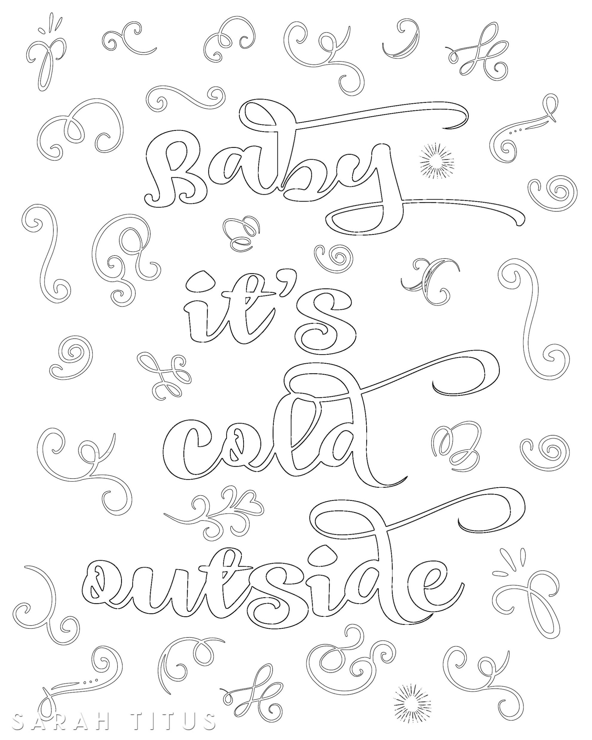 Free Printable Christmas Coloring Sheets - Sarah Titus