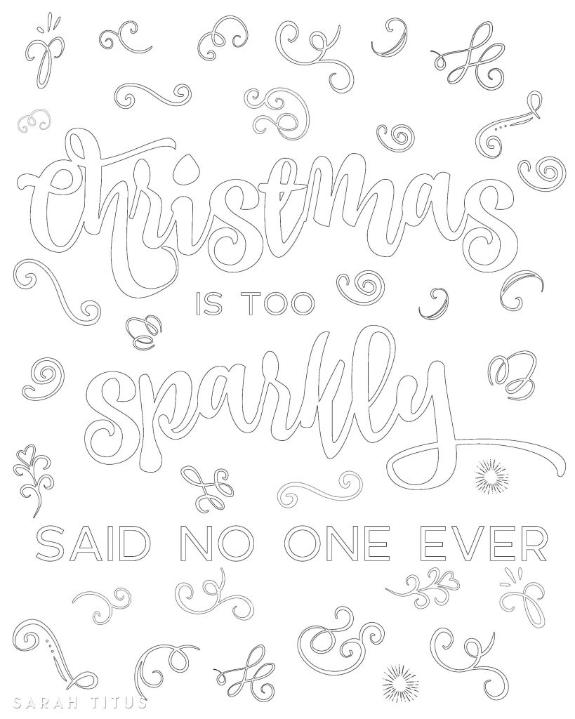 Do you like to color? Want some fun and interesting free printable Christmas coloring sheets? Here's 5 designs you're sure to love!