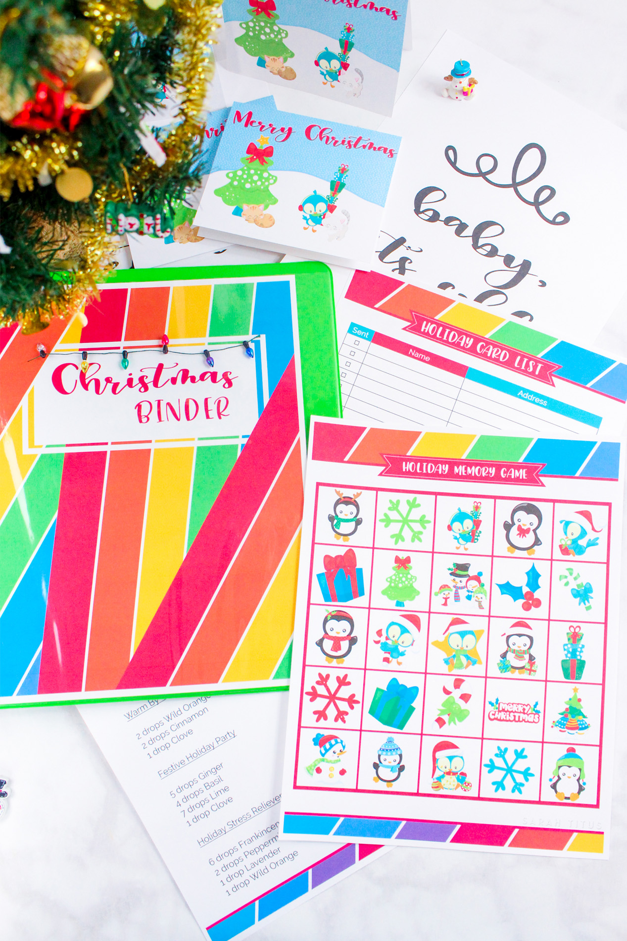 Love all things Christmas? Then you will NOT want to miss your chance to get the new80+ pageChristmas Binder.
