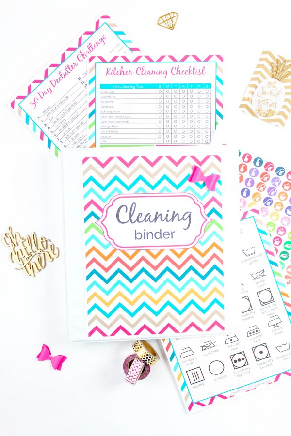 If you're an organization freak like me who just loves having everything all nice and tidy in one spot, this cleaning binder will be your saving grace!