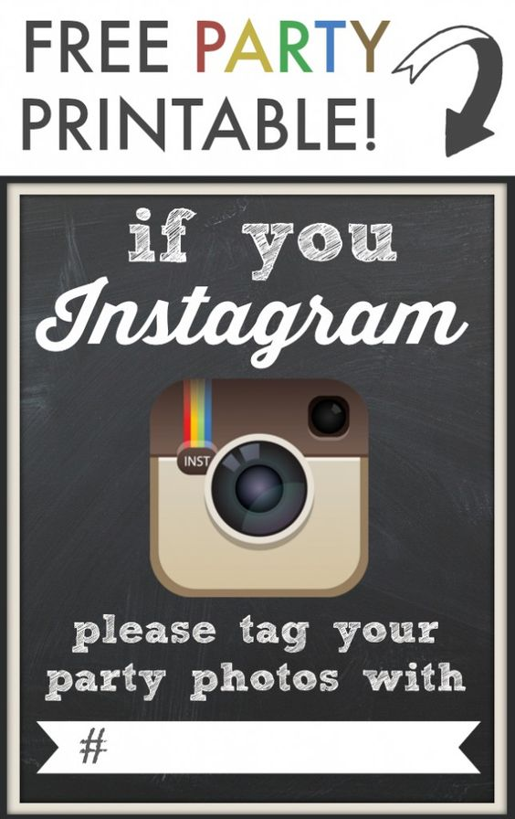Encourage people to tag your party's photos on Instagram. You will want to keep as many memories as you can :)