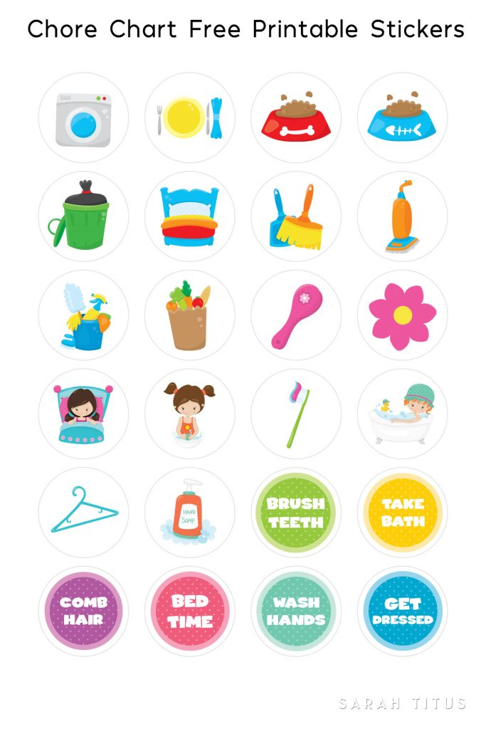This is a photo of Amazing Printable Chore Pictures