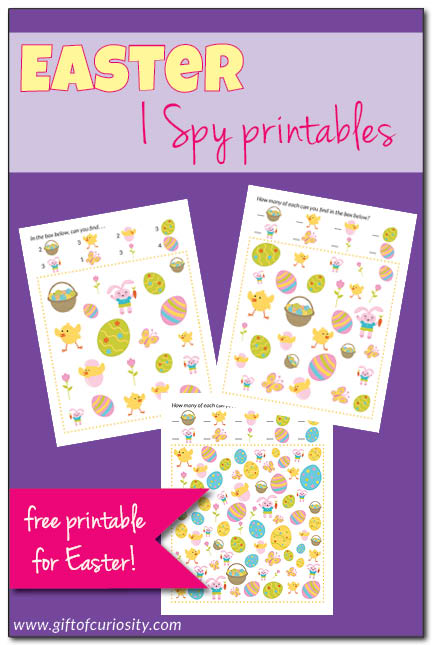 Play I-Spy with your little ones during this holiday! They will love this game.