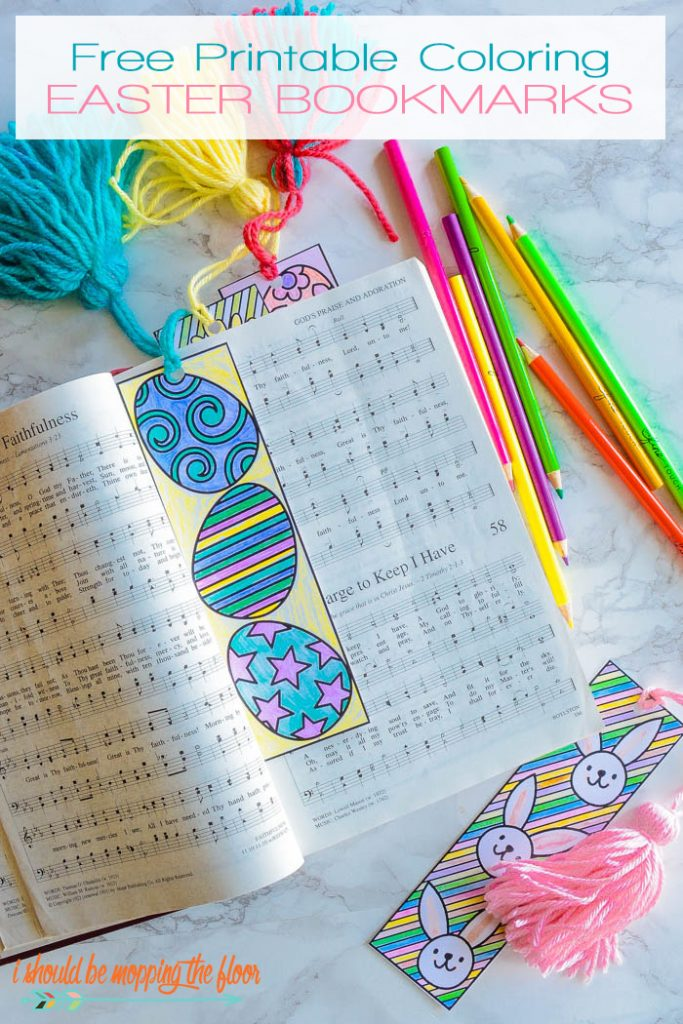 Color these bookmarks with your little ones. Coloring can take all of your stress away! Don't believe me, give it a try! :)