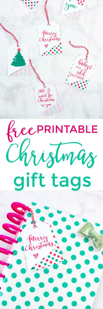 You'll love these free printable Christmas gift tags! Not only will they save you money, but they will make your gift receiver feel special too!