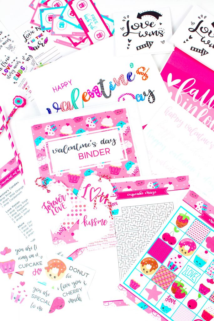 If you are a binder lover just as I am. This Valentine's Day Binder Free Printable is perfect for you to keep everything organized in just one spot. There are over 85 pages full of useful, fun and creative things to do with your family and loved ones!