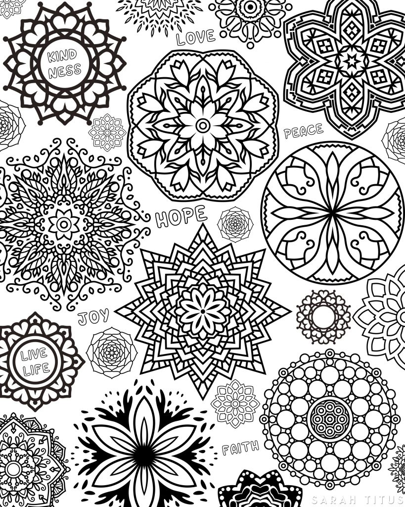 Coloring is not just for kids, yo! This amazing Free Printable Flowers Coloring Sheet has everything you need for you to have a fun and relaxing time coloring. #coloringsheets #coloringpages #freecoloringpages #freecoloringsheets #freeprintables #freecoloringprintables