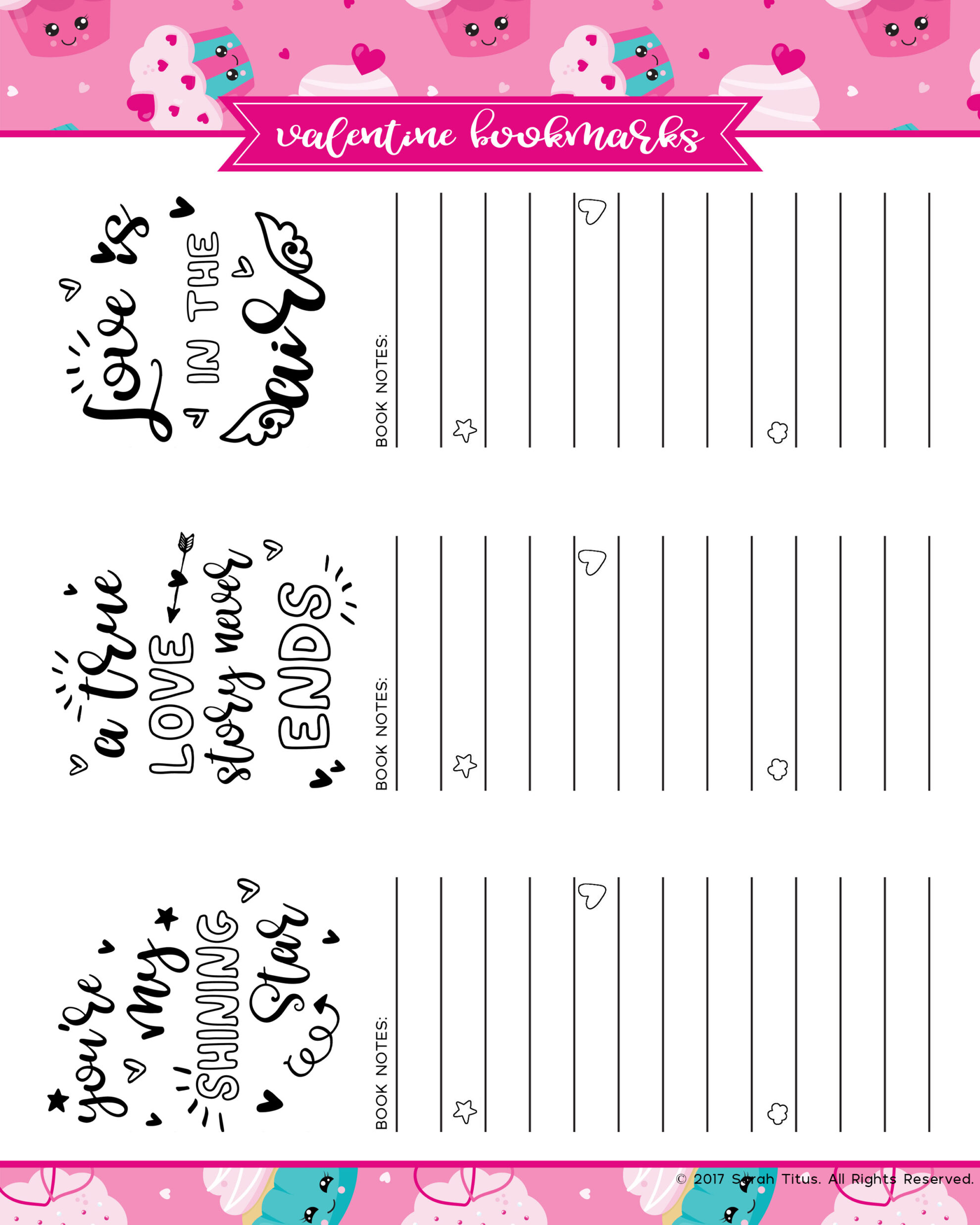 picture regarding Printable Valentine Bookmark known as No cost Printable Passionate Coloring Bookmarks - Sarah Titus