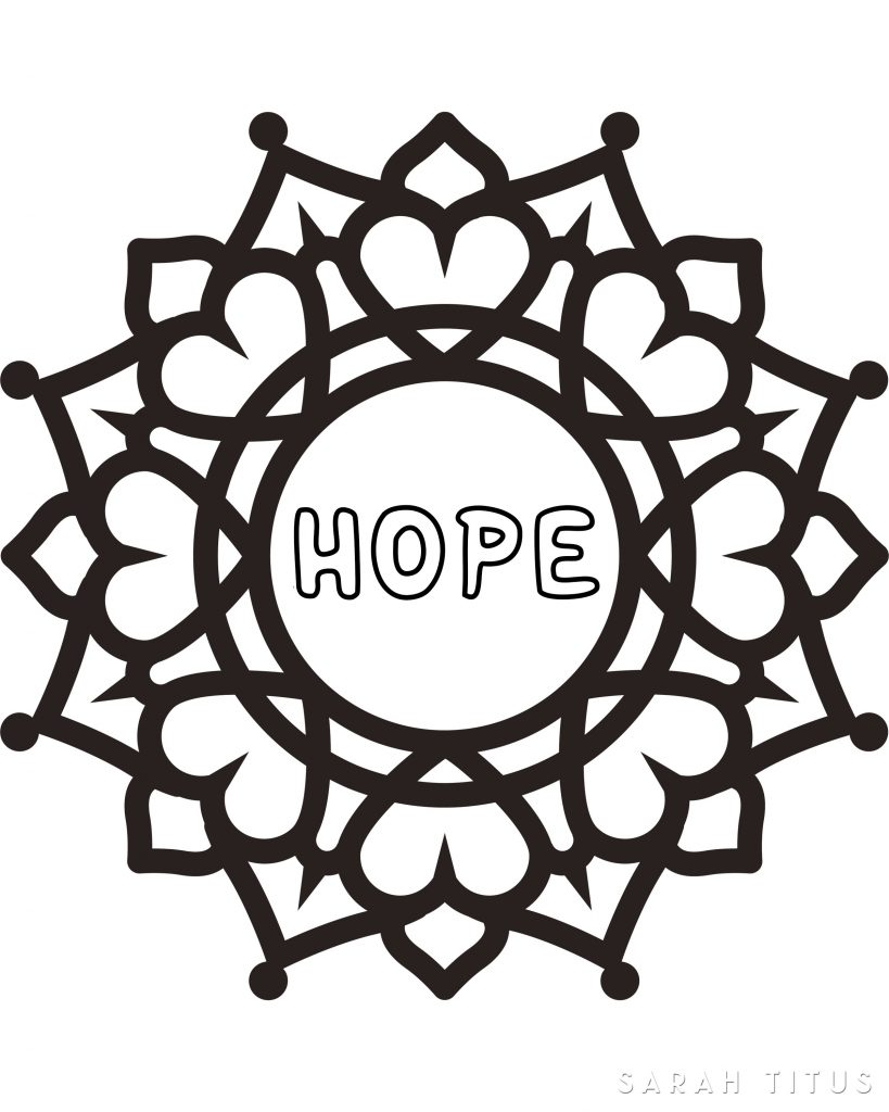TheseFree Printable Faith Hope Love Coloring Sheets are especially fun to color because you get to mix and match colors to make patterns!!! Color any way you want. There's no right or wrong. Just relax and have some fun!