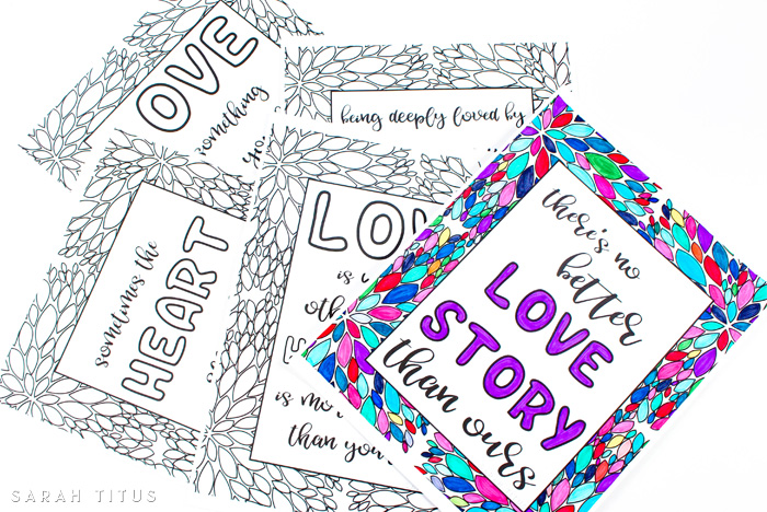 Free Printable Love Quotes Coloring Sheets - Sarah Titus From Homeless To  8-Figures