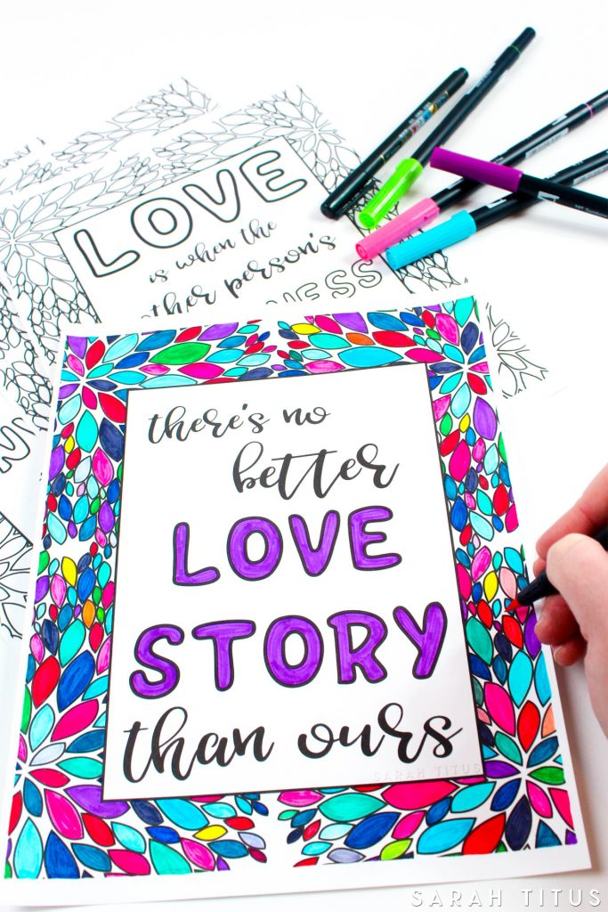 - Free Printable Love Quotes Coloring Sheets - Sarah Titus From Homeless To  8-Figures