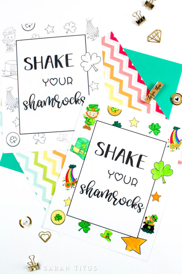 If you celebrate St Patrick's Day come and grab this cool and free St. Patrick's Day Coloring Sheet! Print it out as you want and share time with your little ones by coloring on the day that everything is green :P