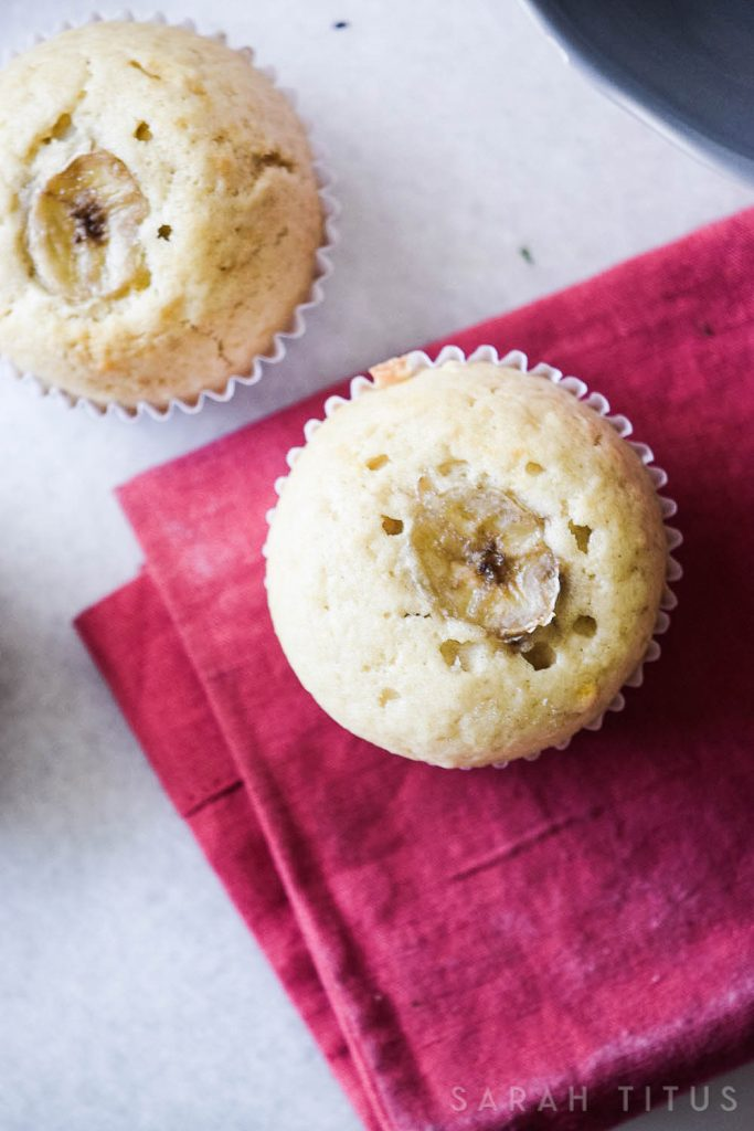 Have some old brown bananas lying around? Don't throw them away! Overripe bananas are perfect to make yummy Banana Muffins!