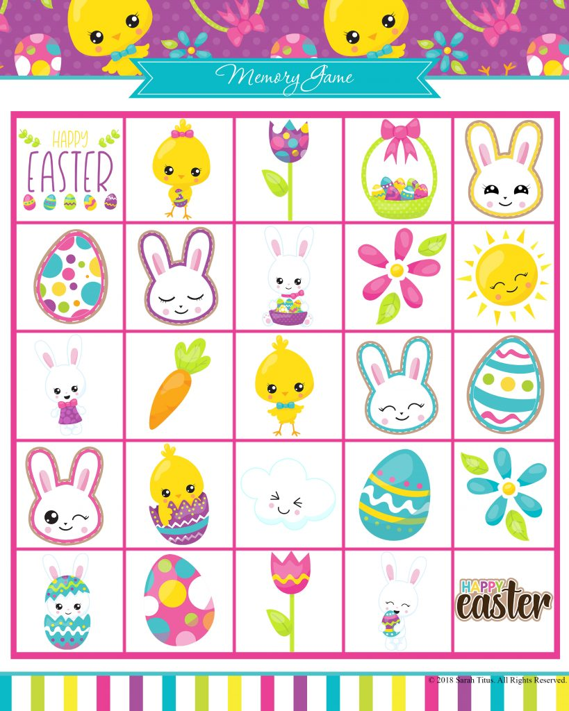 photograph about Printable Memory Games known as Totally free Printable Easter Game titles Your Loved ones Will Appreciate - Sarah Titus