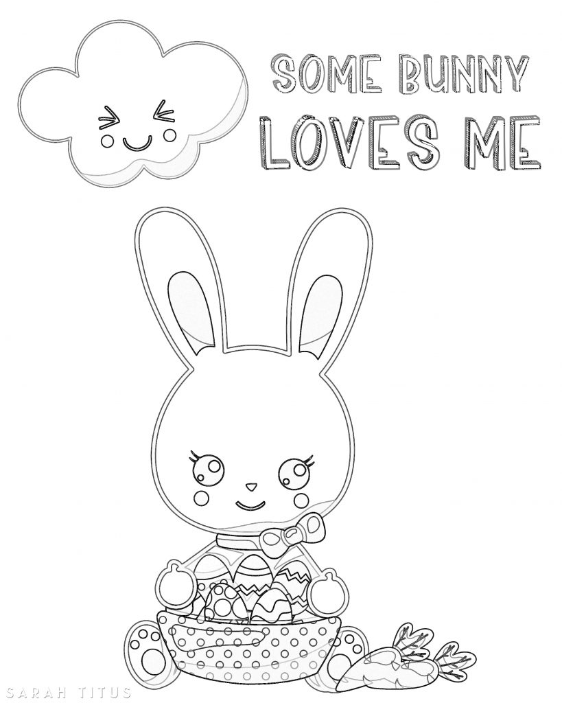 For this special holiday I designed this super cute Free Printable Easter Coloring Sheets! Print as many copies as you want for you and your kids to color and have fun!