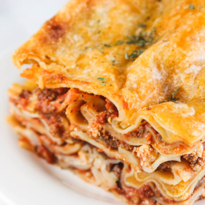 If you are like me, and love Italian cuisine, thisGround Beef and Italian Sausage Lasagna is for you. This simple, but yet delicious recipe will have your family coming back for seconds!