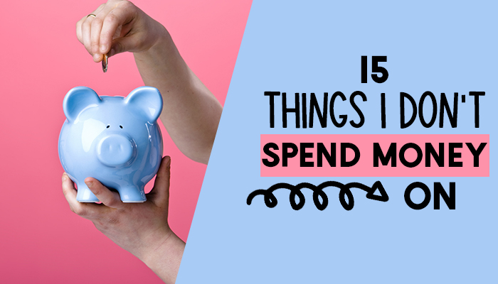 Do you know you are spending WAY more money than you need to on general household costs? Here's 15 main things I do NOT spend money on and the best tips on how you can start doing the same with your budget! Frugal living, penny pinching and saving money can be fun and doesn't mean you have to miss out on the things that are important to you. With these ideas and hacks, you can start getting a lot of the things your family uses for free or eradicate them from you home altogether!