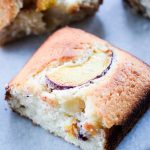 This Yogurt Peach Cake is delicious for dessert or breakfast! It is made with Greek yogurt; so you get your fruit, protein, and calcium!