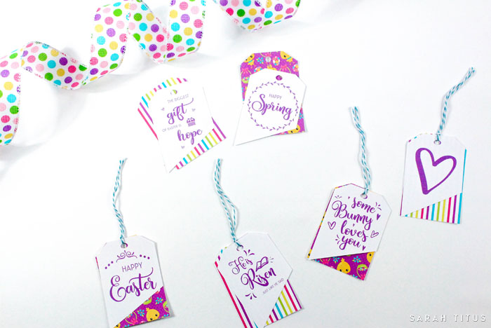 Use them for gifts, on your Easter baskets, as place cards, as bookmarks; these free printable Easter gift tags have dozens of unique uses! Click over to access and get your free 100+ page Easter binder while you're here!!!