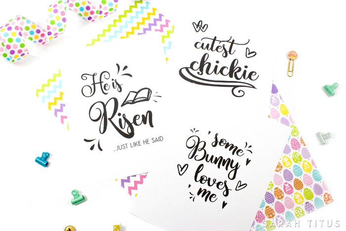 These Free Printable Easter Signs are so beautifully designed; and you can use them for just about anything. Print and give as a gift, use as home decor, use as a pattern to stitch a pillow, put clear contact paper over them and use as place mats at your table.